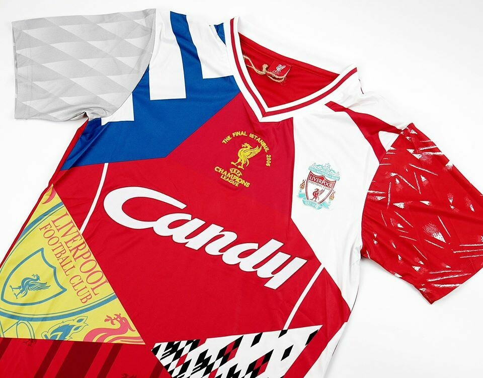 LIVERPOOL MIXJERSEY HOME MAGLIA CASA MASH LIVERPOOL MASH UP RETRO COLLECTION