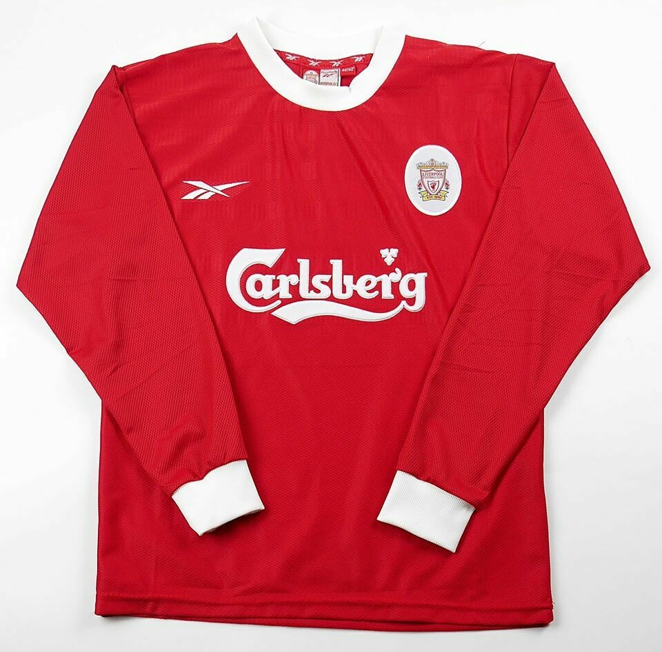 LIVERPOOL HOME 1999-2000 LONG SLEEVED MAGLIA CASA 99 00