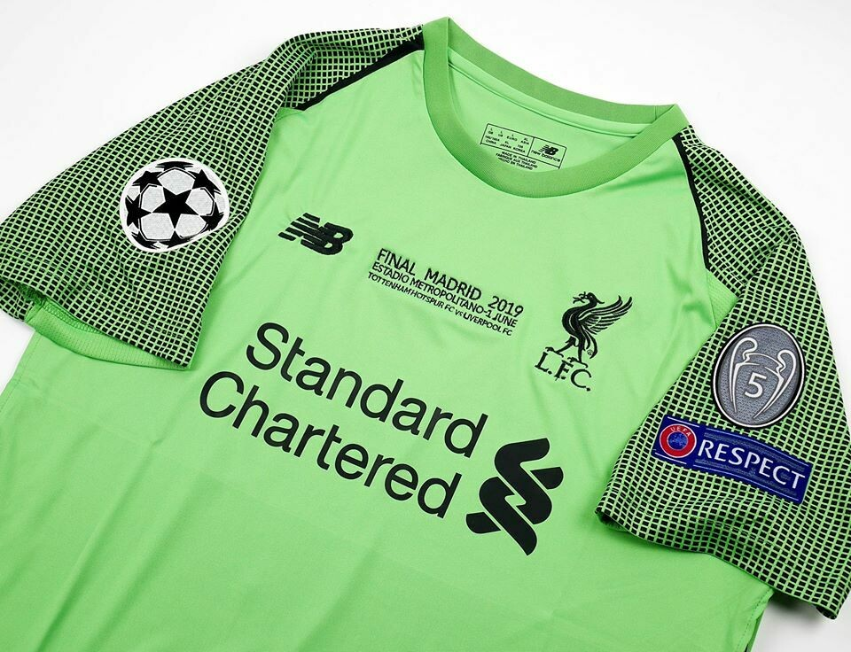 LIVERPOOL GOALKEPPER FINAL MADRID 2019 FINALE CHAMPIONS 2019 LIVERPOOL MAGLIA FINALE
