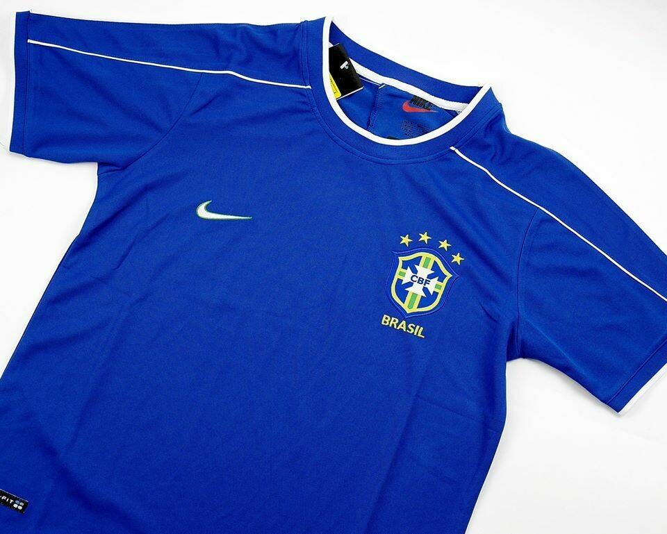 BRASILE   MAGLIA TRASFERTA 1998  JERSEY AWAY BRAZIL 98