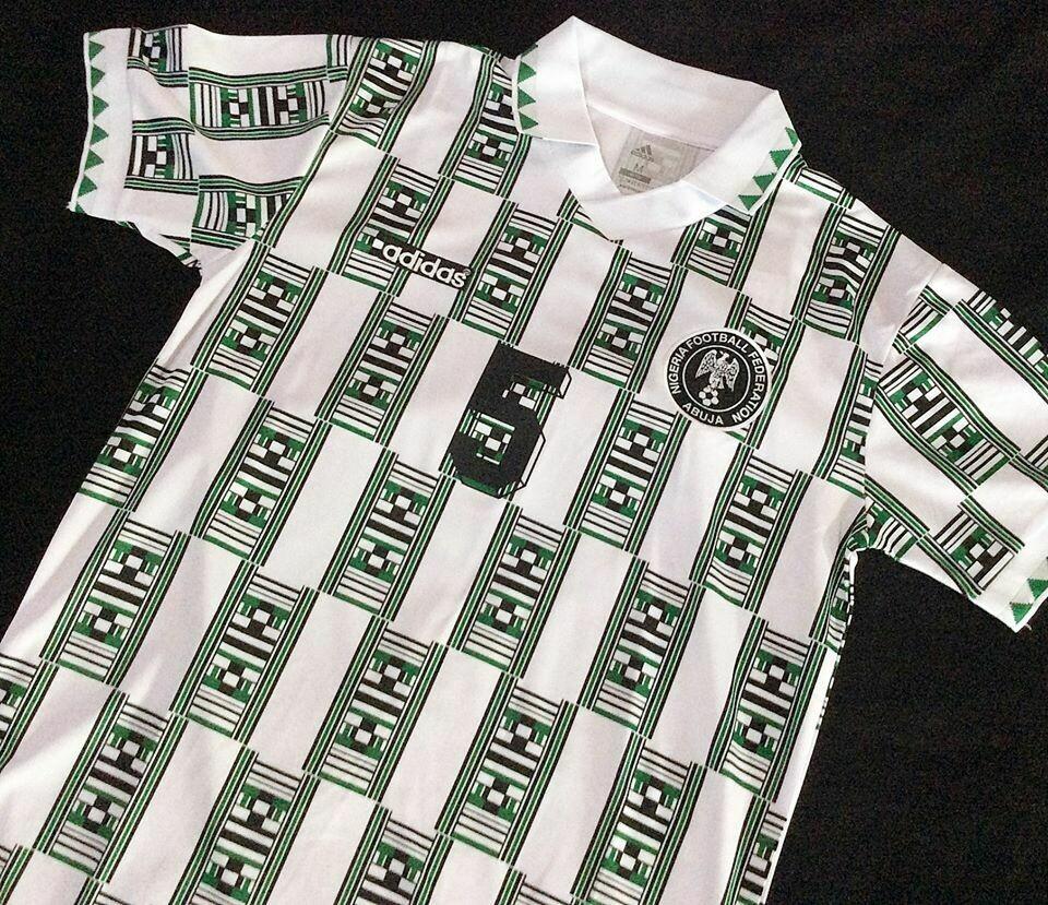 NIGERIA AWAY WORLD CUP 1994 MAGLIA TRASFERA 94