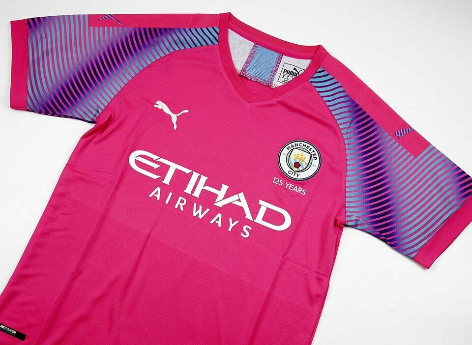 MAN CITY GOALKEPPER PINK 2019-2020 MAGLIA PORTIERE