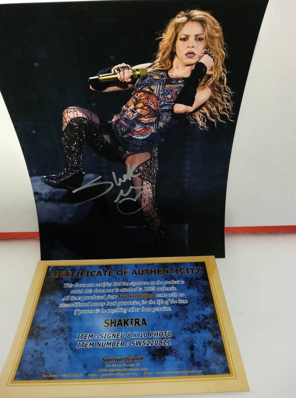 FOTO Shakira El Dorado World Tour Autografata Signed + COA Photo Shakira El Dorado World Tour Autografata Signed