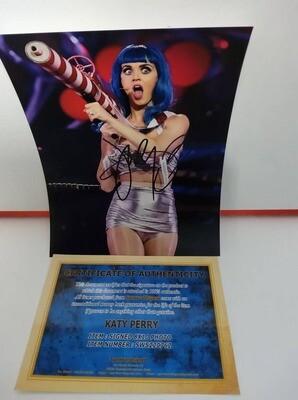 FOTO Katy Perry Autografata Signed + COA Photo Katy Perry Autografata Signed