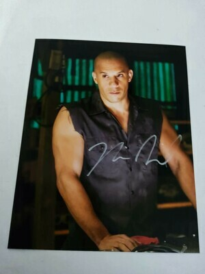 FOTO Vin Diesel Fast and Furious Autografata Signed + COA Photo Vin Diesel Fast and Furious Autografato Signed Toretto