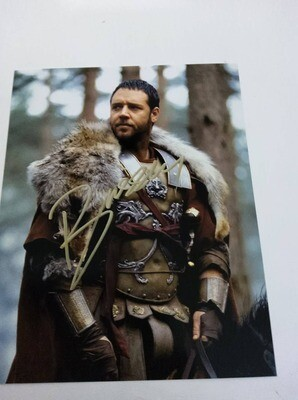 FOTO Russel Crowe Massimo Decimo Meridio Il Gladiatore  Autografata Signed + COA Photo Russel Crowe The Gladiator Massimo Decimo Meridio