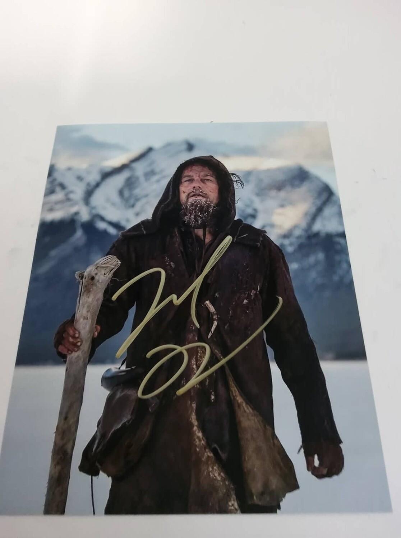 FOTO Leonardo DiCaprio  The Revenant Autografato   Signed + COA Photo Leonardo DiCaprio  The Revenant.  Autografato Signed