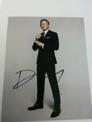 FOTO Daniel Craig James Bond 007 Signed + COA Photo Daniel Craig James Bond 007  Autografato Signed