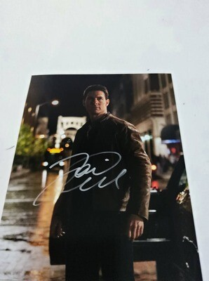 FOTO Tom Cruise Jack Reacher Signed + COA Photo Tom Cruise Jack Reacher   Autografato Signed