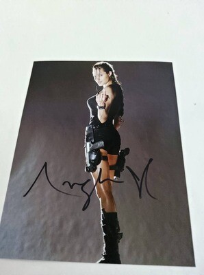 FOTO Angelina Jolie Tomb Raider Lara Croft Autografata Signed + COA Photo Angelina Jolie Tomb Raider Lara Croft Autografato Signed