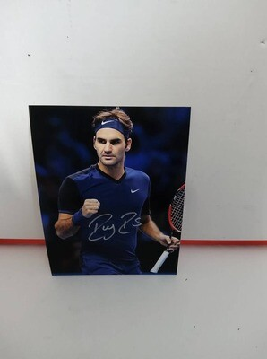 FOTO Roger Federer RF Autografata Signed + COA Photo ROGER FEDERER RF  Autografato Signed