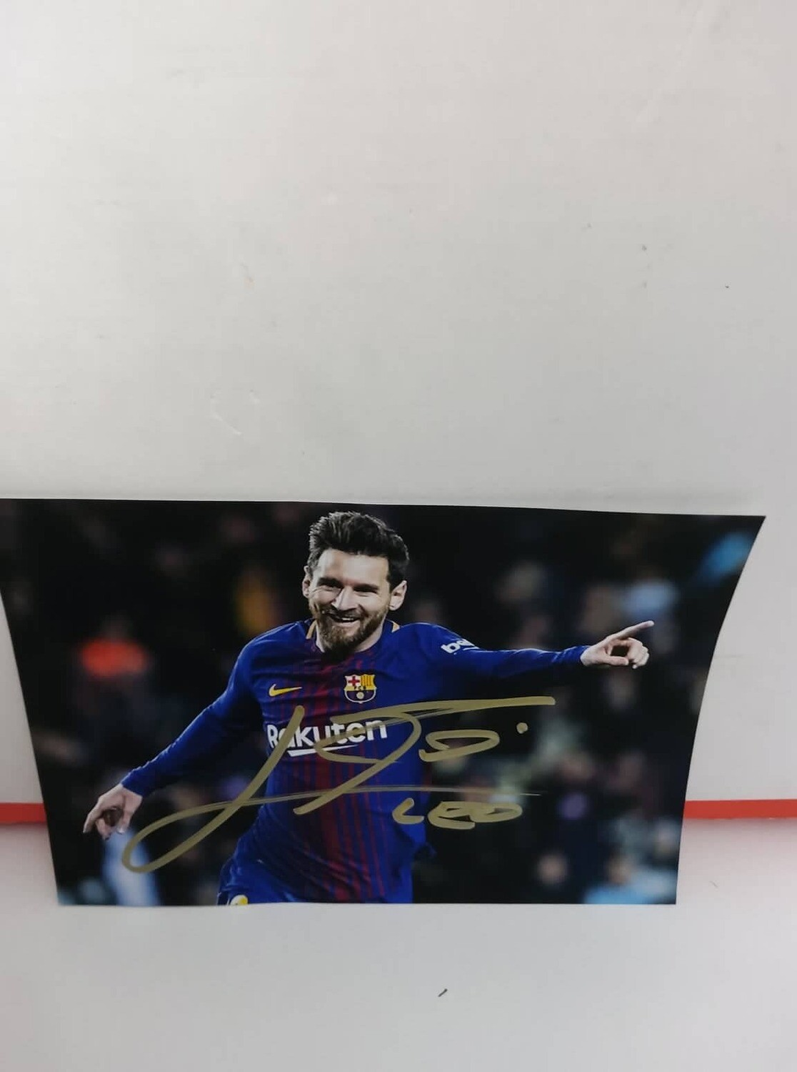 FOTO LIONEL MESSI  Autografata Signed + COA Photo MESSI Autografato Signed
