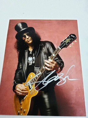 FOTO Slash Guns N' Roses Autografata Signed + COA Photo Slash Guns N' Roses Autografata Signed