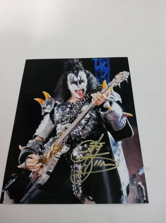 FOTO Gene Simmons  band KISS Autografata Signed + COA Photo Gene Simmons  band KISS Autografata Signed