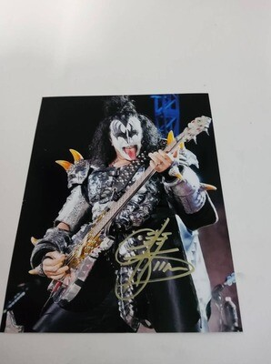 FOTO Gene Simmons  band KISS Autografata Signed + COA Photo Gene Simmons  band KISS Autografata Signed