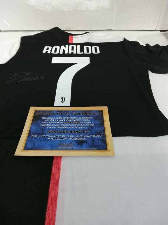 Maglia Replica Juventus Maglia Casa 2019 2020 Autografata CR7 CRISTIANO RONALDO Signed wich COA certificate Juventus CRISTIANO RONALDO CR7 Signed 2019 2020