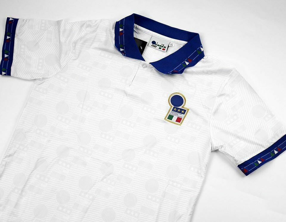 ITALIA WORLD CUP USA 94 MAGLIA TRASFERTA JERSEY AWAY
