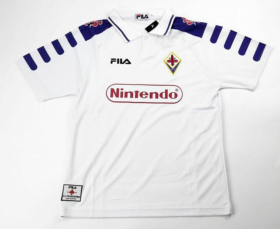 FIORENTINA AWAY 1998-1999 NINTENDO MAGLIA TRASFERTA 98 99