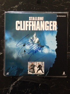 Disc Laser Signed Sylvester Stallone Autografato Cd Disc Sylvester Stallone Cliffhanger - L'ultima sfida Autograph