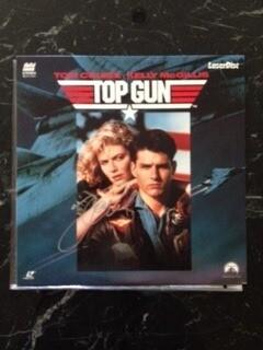 Disc Laser Signed Tom Cruise TOP GUN Autografato Cd Disc Tom Cruise TOP GUN Autograph