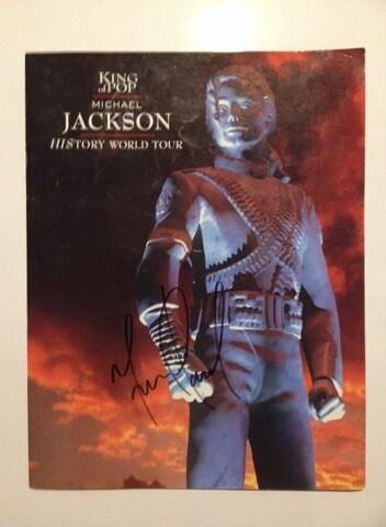 Michael Jackson Signed Tour Book Autografato Michael Jackson Signed Autograph