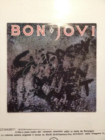 Jon Bon jovi signed record Autografato Jon bon Jovi Autograph Signed Autografato