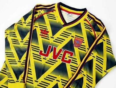 ARSENAL MAGLIA CASA JERSEY HOME 1990 1992 MANICHE LUNGHE LONG SLEEVES