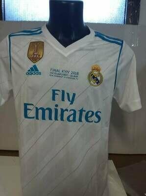 REAL MADRID FINALE CHAMPIONS CON DIFETTI SCRITTE DIFECT WRITTEN NO NAME NO NUMBER TAGLIA S SIZE S