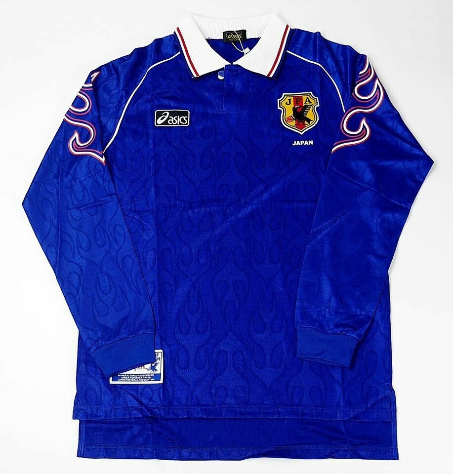 JAPAN HOME WC 1998 FIRE LONG SLEEVED WORLD CUP 1998 GIAPPONE 98