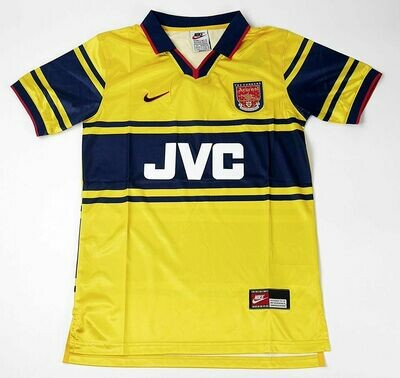 ARSENAL AWAY YELLOW 1998-1999 MAGLIA TRASFERTA 98 99