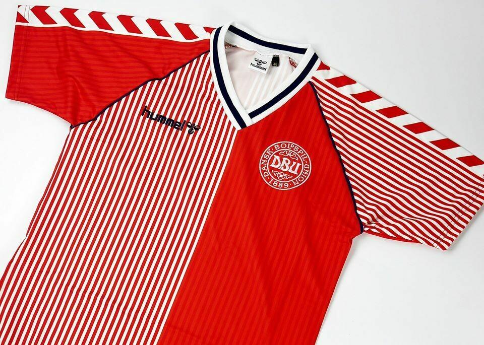 DENMARK AWAY WC 1986  MAGLIA TRASFERTA 86 1986 WORLD CUP MONDIALI 1986 DANIMARCA