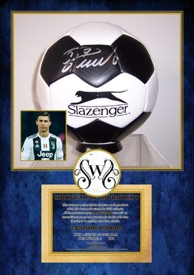 PALLONE CRISTIANO RONALDO  Autografato Signed + COA BALL CR7 RONALDO SIGNED  Autografato Signed CHAMPIONS