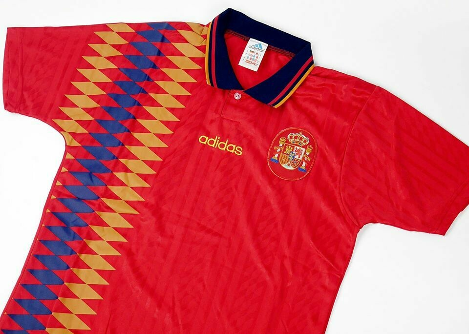 SPAIN HOME WC 1994 MAGLIA WORLD CUP 1994 SPAGNA