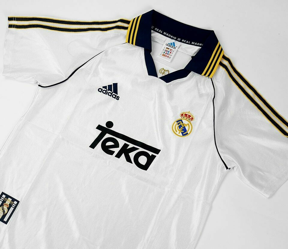 REAL MADRID HOME 1998-2000 MAGLIA CASA 98 00 REAL MADRID
