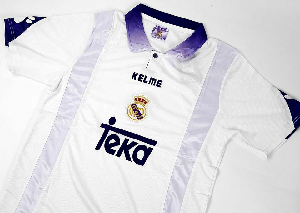 REAL MADRID HOME 1997-1998 MAGLIA CASA 97 98 REAL MADRID