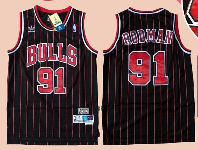 CHICAGO BULLS  MAGLIA JERSEY RODMAN 91 BASKETBALL