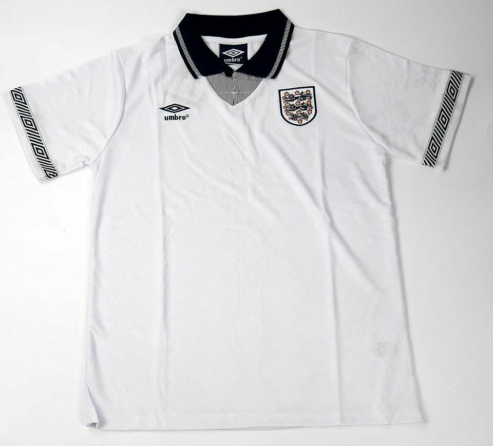ENGLAND HOME WC 1990 WORLD CUP 1990 JERSEY HOME INGHILTERRA MAGLIA CASA MONDIALI 1990