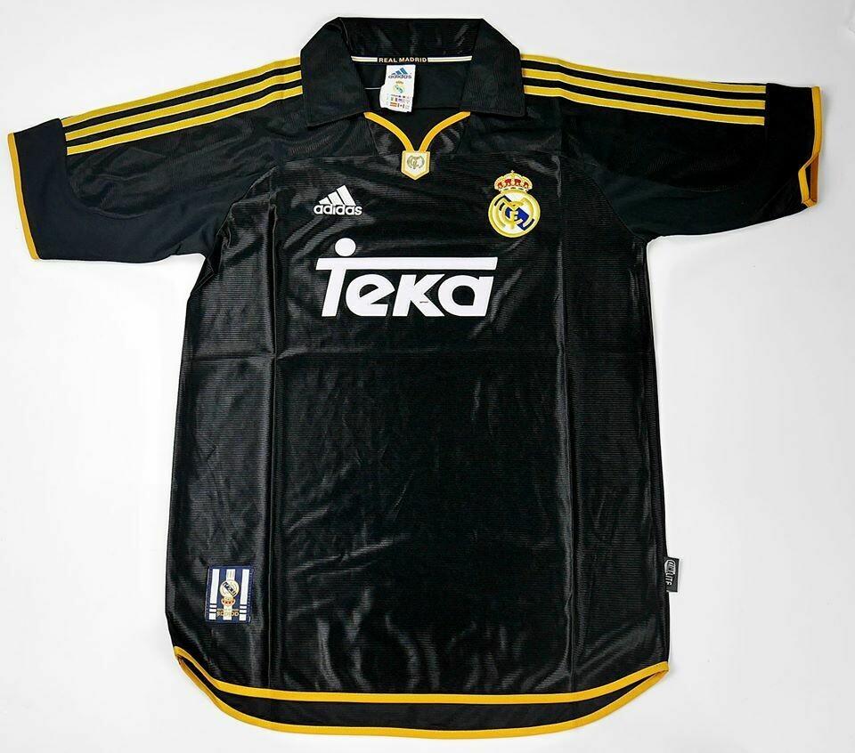 REAL MADRID AWAY 1998-2000 FINAL UCL 2000 VS VALENCIA MAGLIA TRASFERTA FINAL CHAMPIONS 2000