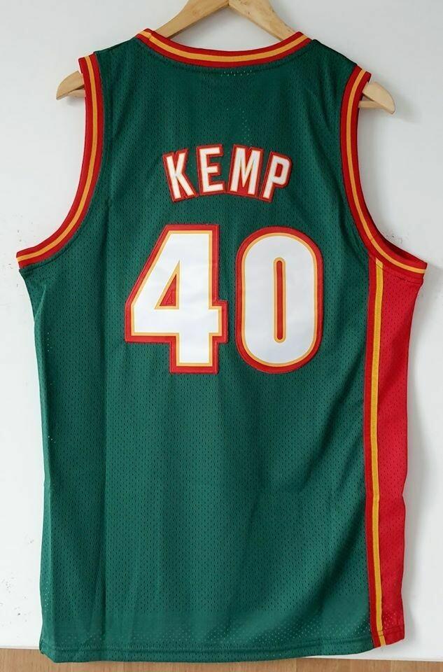 Seattle SuperSonics Shawn Kemp Jersey Maglia BASKETBALL NBA