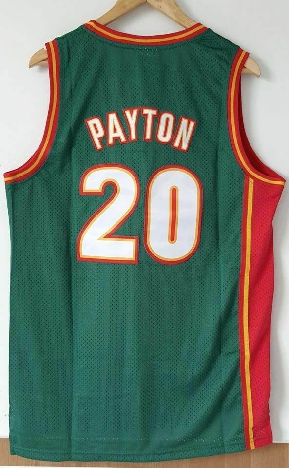 Seattle SuperSonics Gary Payton Jersey Maglia BASKETBALL NBA