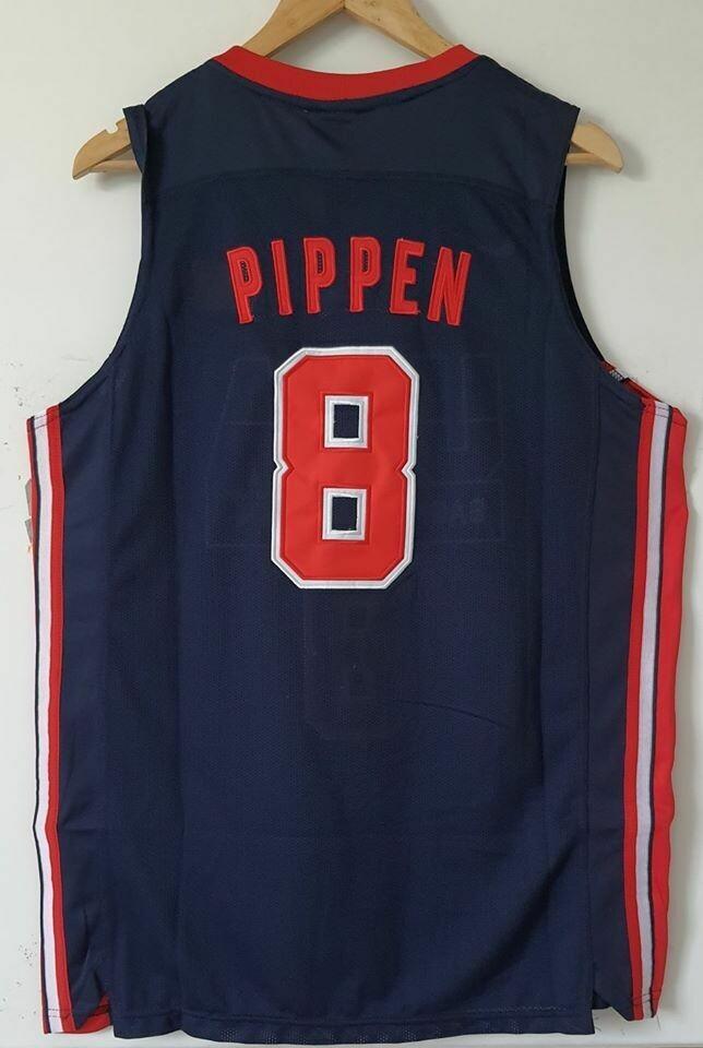 SCOTTIE PIPPEN 8  USA Jersey Maglia BASKETBALL NBA