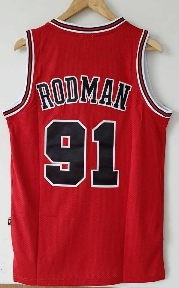 RODMAN 91 CHICAGO BULLS  NBA  Jersey Maglia BASKETBALL NBA