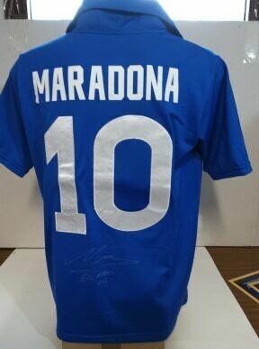 Maglia Napoli Buitoni Diego Armando Maradona 10 Autografata Signed wich COA certificato DIEGO ARMANDO MARADONA 10 BUITONI NAPOLI MAGLIA Autograph Signed Autografata  Signed with coa