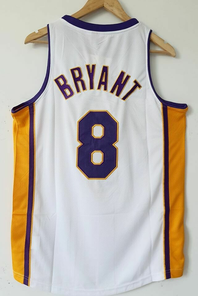 KOBE BRYANT 8  LOS ANGELES LAKERS  Jersey Maglia BASKETBALL NBA