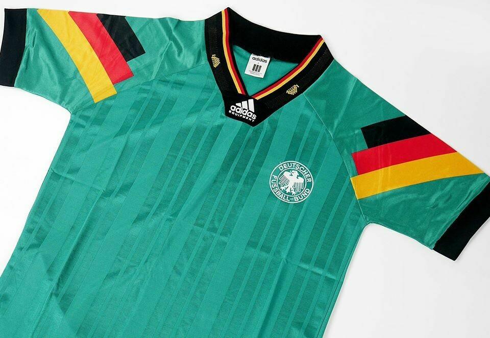 GERMANY AWAY 1992 GERMANIA MAGLIA TRASFERTA 1992