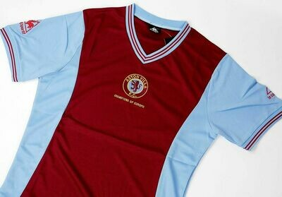 ASTON VILLA HOME 1982 CHAMPIONS OF EUROPE MAGLIA CHAMPIONS ASTON VILLA
