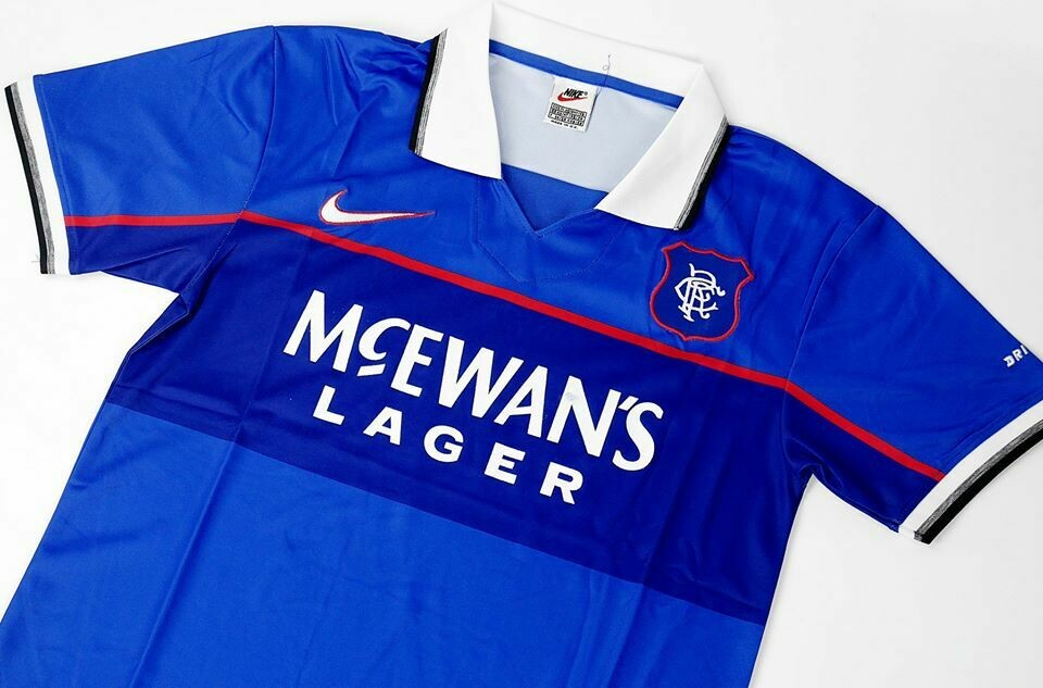 RANGERS GLASCOW RANGERS HOME 1997-1998 MAGLIA CASA 97 98
