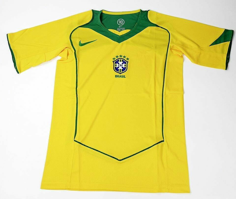 BRAZIL HOME COPA AMERICA 2004 BRASILE MAGLIA CASA COPA AMERICA 2004
