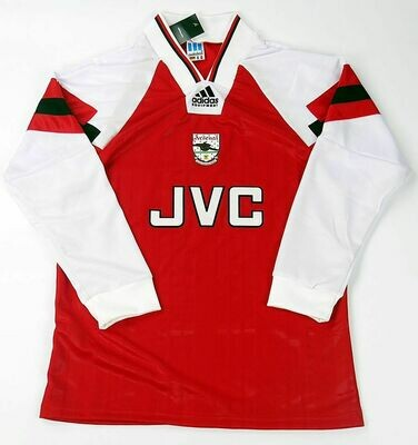 ARSENAL MAGLIA CASA JERSEY HOME 1992 1994 LONG SLEEVEES