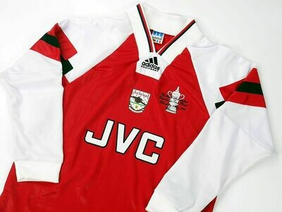 ARSENAL FINAL FA CUP 1993 WINNERS  FINALE FA CUP 93 MANICHE LUNGHE LONG SLEEVES